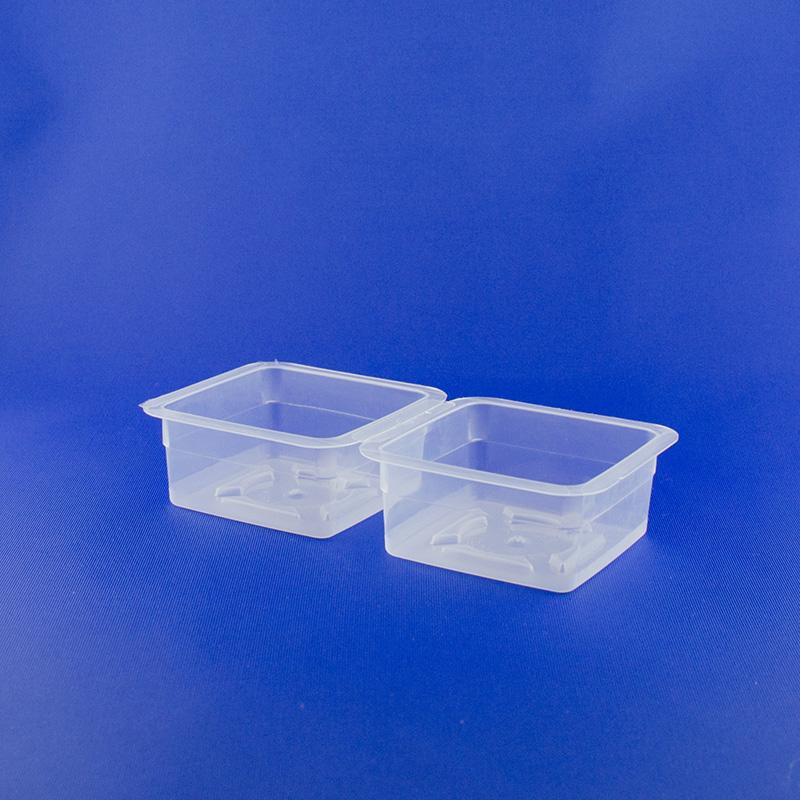 Vaschetta quadrata doppia ml 90+90
